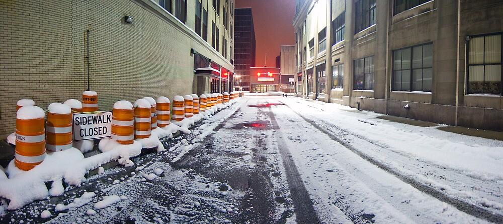 SIDEWALK CLOSED - Rochester NY by mindrelic