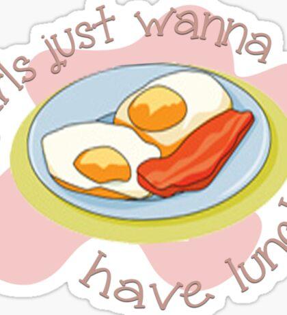 Girls just wanna have...lunch! Sticker
