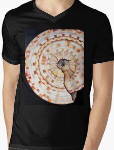 Sundial Shell Mens V-Neck T-Shirt