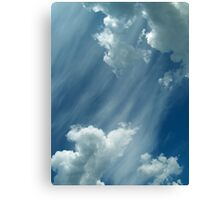 Clouds #Who Knows Canvas Print