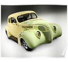 1938 Hot Rod Ford Coupe Poster