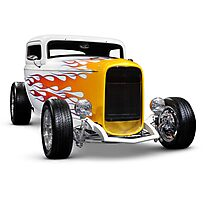 Hot rod Ford Hi-Boy Coupe 1932 Photographic Print