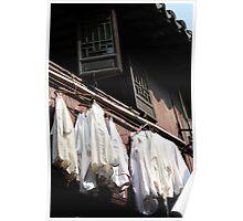 White Laundry Poster