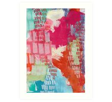 Wild and Free - Textured Abstraction Art Print