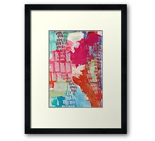 Wild and Free - Textured Abstraction Framed Print