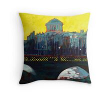 Grattan Bridge, Four Courts, Dublin Throw Pillow