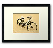 Snow Bicycle Framed Print