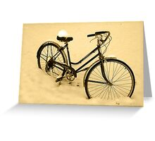 Snow Bicycle Greeting Card