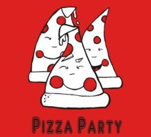 black and white pizza pie party by mylittlenative