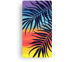 Palm Tree at Sunset Canvas Print