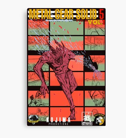 Fake Metal Gear Solid V Graphic Novel cover Canvas Print