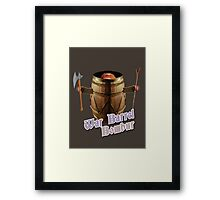 War Barrel Bombur Framed Print