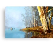 Into the Misty River Morn Canvas Print