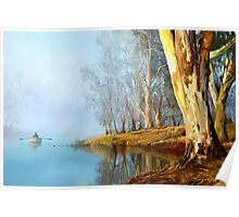 Into the Misty River Morn Poster