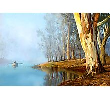 Into the Misty River Morn Photographic Print