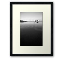 Long Beach surfers Framed Print