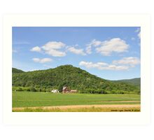Farm in the Valley Art Print