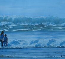 Women in the Surf by JennyArmitage
