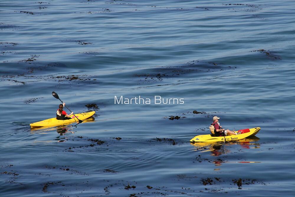 Kayaks -Monterey Bay California by MarthaBurns