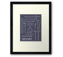 The Weapons of the Company Framed Print