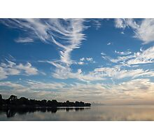 Of Feathery Clouds and Tranquil Mornings Photographic Print