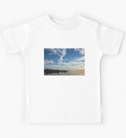 Of Feathery Clouds and Tranquil Mornings Kids Tee