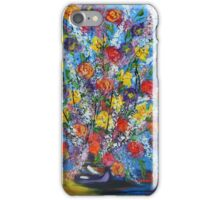 Spring has Sprung, abstract floral bouquet, daffodils, spring flowers iPhone Case/Skin