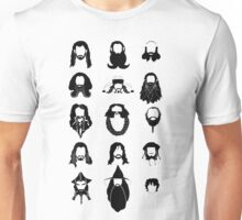The Bearded Company Black and White Unisex T-Shirt