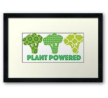'Powered by Veg' Broccoli Vegan Design Framed Print