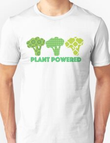 'Powered by Veg' Broccoli Vegan Design Unisex T-Shirt