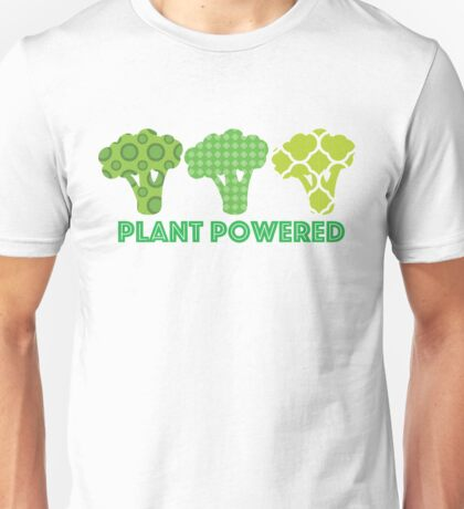 'Powered by Veg' Broccoli Vegan Design Unisex T-Shirt