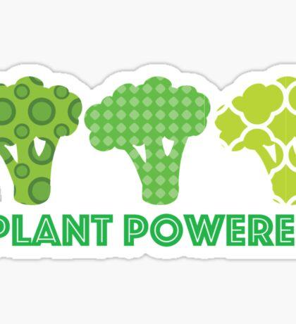 'Powered by Veg' Broccoli Vegan Design Sticker