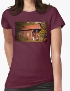 """""""BUBBA SECURITY SYSTEMS CORPORATE OFFICE AND COMPANY VEHICLE""""... prints and products Womens Fitted T-Shirt"""