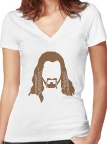 Fili's Beard Women's Fitted V-Neck T-Shirt