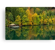 The Alpsee in Fall Canvas Print
