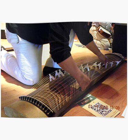 Large Japanese Stringed Instrument Poster