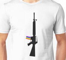 Machine Gun Silhouette - M-16 Edition Unisex T-Shirt
