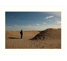 """This is not a Tourist,"" Lido Beach, Venice, Italy Art Print"