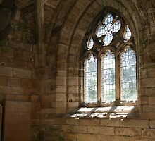 Jedburgh Priory window by jayview