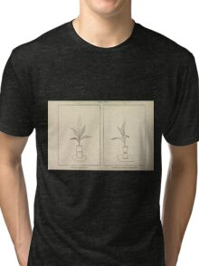 The flowers of Japan and the art of floral arrangement Josiah Conder 1892 0217 Defective and Correct Tri-blend T-Shirt