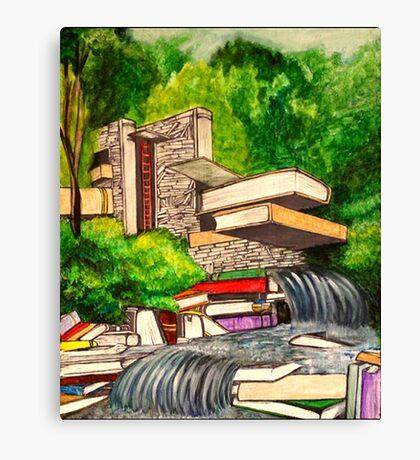 Falling Books Canvas Print