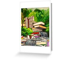 Falling Books Greeting Card