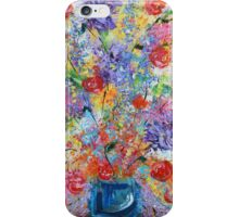 Floral Explosion, abstract flower still life, bold exciting colors iPhone Case/Skin
