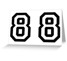 Number Eighty Eight Greeting Card