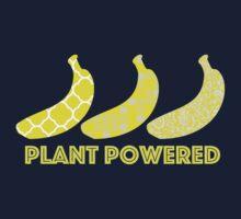 'Plant Powered' Vegan Banana Design Kids Tee