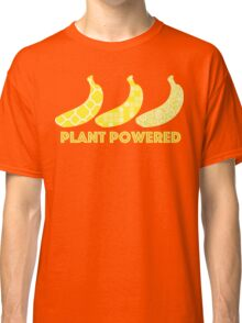 'Plant Powered' Vegan Banana Design Classic T-Shirt