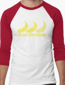 'Plant Powered' Vegan Banana Design Men's Baseball ¾ T-Shirt
