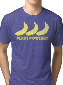'Plant Powered' Vegan Banana Design Tri-blend T-Shirt