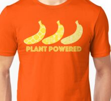 'Plant Powered' Vegan Banana Design Unisex T-Shirt