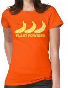 'Plant Powered' Vegan Banana Design Womens Fitted T-Shirt
